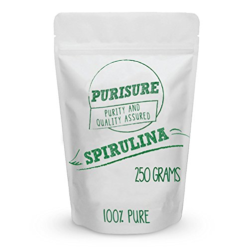 Purisure Spirulina Powder 250g (83 Servings), Superfood Supplement, Great Source of Vegan Protein