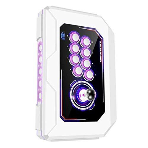Wsaman Domestica Sanhe Mini Palmari Console, Gioco Controllo della Luce Respiratoria A 8 Colori con Pulsanti Personalizzati Joystick Domestico per ComputerTV Proiettore Console