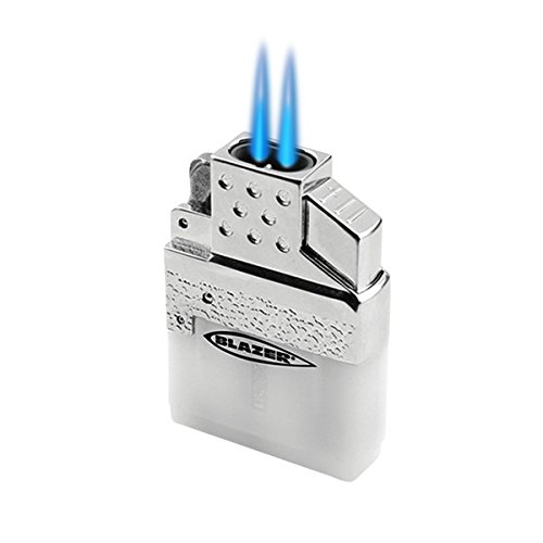 Blazer 189-9201 Top-Z Dual Torch Flame Lighter Insert, White/Silver