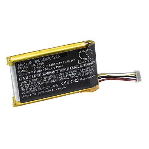 vhbw Batteria Compatibile con DJI Spark Controller Controller per Drone, Telecomando (2450mAh, 3,7V, Li-Poly)