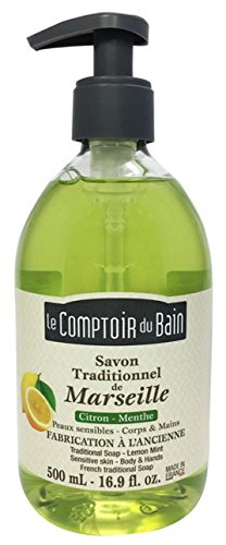 Le Comptoir du Bain Savon de Marseille Liquide Citron/Menthe 500 ml - lot de 3