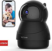 Victure 1080P FHD Pet Camera with WiFi IP Camera Indoor Security Camera Motion Detection Night Vision Home Surveillance Ba...