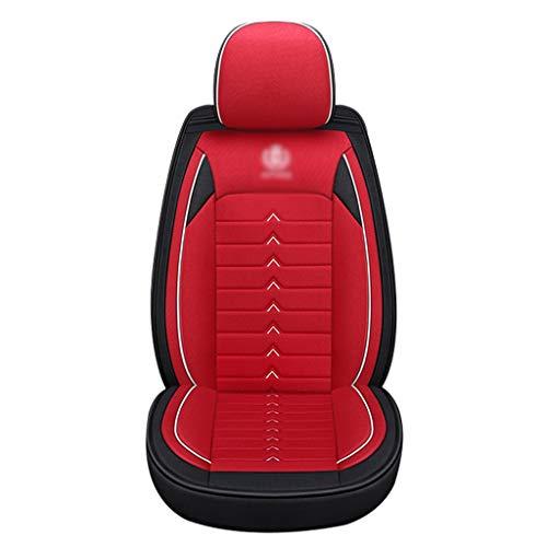 Auto Couverture de siège de Voiture Universelle Couverture de siège de Bande dessinée Universelle Four Seasons Seat Cover Set Females Accessoires (Color : Red)
