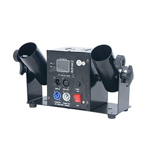 2 Schuss Konfettimaschine Double Shot Streamer Launcher Elektrischer Konfettiblaster DMX Fernsteuerung