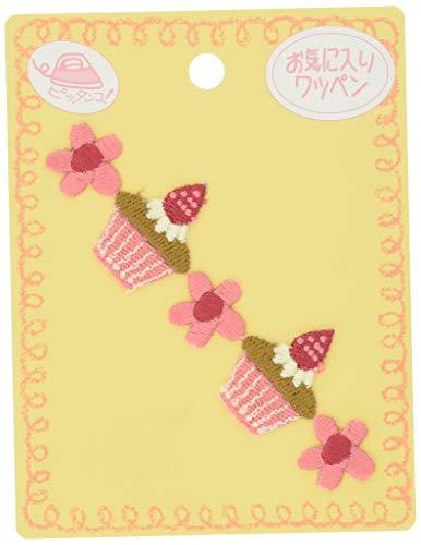 KIYOHARA お気に入り 連続ワッペン カップケーキ 約幅9.5cm×縦2.7cm 1枚入り MOW596