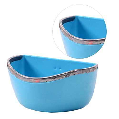 POPETPOP Bunny Feeder-Food/Water/Hay Bowl Dish for Rabbit Guinea Pig Chinchilla Hamster Ferret,Rabbit Feeders Hanging-Random Color Blue or Red...