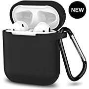 AirPods Case,SATLITOG Protective Silicone Cover Compatible with Apple AirPods 2 and 1(Not for Wireless Charging Case)