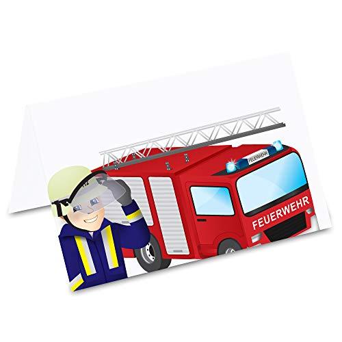 Pricaro Tafelkaarten, brandweerauto, 50 stuks