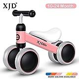 XJD Bicicleta de Equilibrio para Bebé Juguetes de Bebé para Aprender a Caminar para Niños y Niñas de 1 año Niños de 10-24 Meses el Primer Regalo de Cumpleaños de su Bebé en Bicicleta (Rosa)
