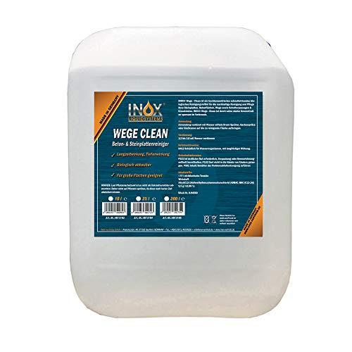 INOX® Wege Clean SteinreinigerKonzentrat, 10L - Gründbelagentferner, Algenentferner für Außenbereich