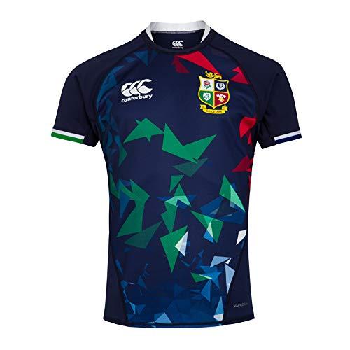 Canterbury of New Zealand British and Irish Lions Rugby-Trikot für Herren XL Peacoat