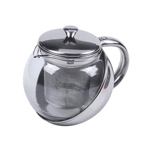 YGXR Vajilla, Tetera Moderna de Vidrio de Acero Inoxidable de Estilo Europeo, Infusor de Hojas de té Juego de té de Flores de té de Frutas