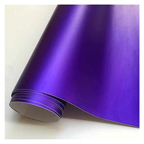 14 Farbe matt satiniert Vinyl-Film-Aufkleber Aufkleber Blasen-Auto Verpackung Film Autofolie (Color Name : Purple)