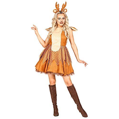 WIDMANN 11012853 Kostüm Reh, Damen, Braun, M