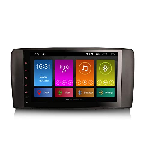 ERISIN 9 Zoll Android 10.0 Autoradio fÌr Mercedes Benz R-Klasse W251 mit GPS-Navi UnterstÌtzt Bluetooth WiFi 4G DAB + RDS Mirror- Link TPMS Eingebauter CarPlay DSP-VerstÀrker