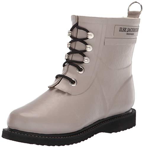 Ilse Jacobsen Damen Gummistiefel | Schuhe aus 100% Natur Bio Gummi | Garantiert PVC frei | Kurze Stiefel mit Schnürsenkel aus 100% Baumwolle | RUB2, Grau (Atmosphere 149), 41 EU