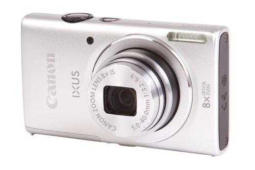 Canon IXUS 140 Digitalkamera (16 MP, 8-Fach Opt. Zoom, 7,6cm (3 Zoll) Display, bildstabilisiert, DIGIC 4 mit iSAPS) Silber