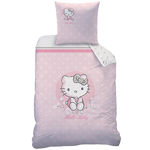 copripiumino singolo hello kitty Hello Kitty 045244cerisier Set di Biancheria da Letto