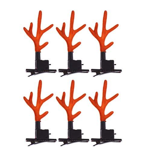 Holibanna Pinza de Pelo de Cornamenta de Navidad Intermitente Cambio de Color Accesorio para el Pelo de Reno para...