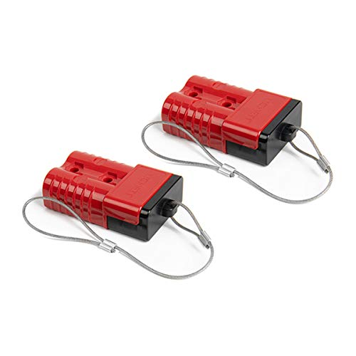 HYCLAT 2-4 Gauge Battery Quick Connect/Disconnect Wire Harness Plug Connector Recovery Winch Trailer, Pack of 2, Red
