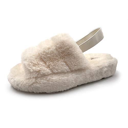 ファーサンダル ボアサンダル ファースリッパ ルームシューズ ムートン ボア 室内履き 外履き 冬 冬用 あたたかい 暖かい あったか もこもこ モコモコ おしゃれ オシャレ さんだる ホワイト 26.0cm~27.0cm