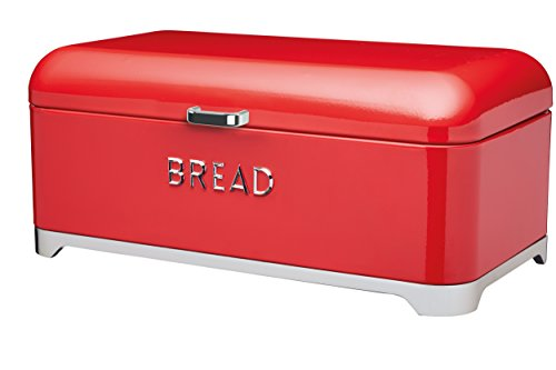 Kitchen Craft Lovello panera, 42 x 22 cm (41,91 cm x 21,59 cm) - Rojo