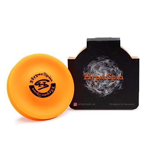 HyperSpin Mini-Frisbee - fliegt über 60 Meter weit - Trendsport, Outdoor-Spielzeug aus Silikon (orange)