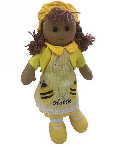 Hermosa muñeca de trapo personalizable de 40 cm con diseño de abeja. Gran regalo