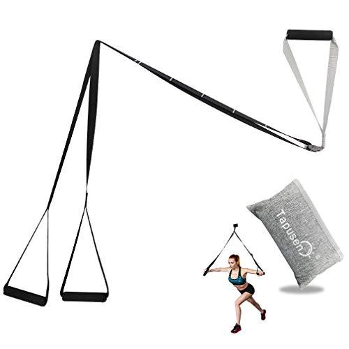 Tapusen Kit di Allenamento Fitness - Regolabile Kit di Allenamento per Sospensione Allenamento di Fitness per Palestra Professionale per Allenamento in Palestra (Semplice e Leggero)