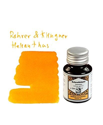 Rohrer und Klingner Schreibtinte,Tinte,Helianthus -50ml Glasflakon