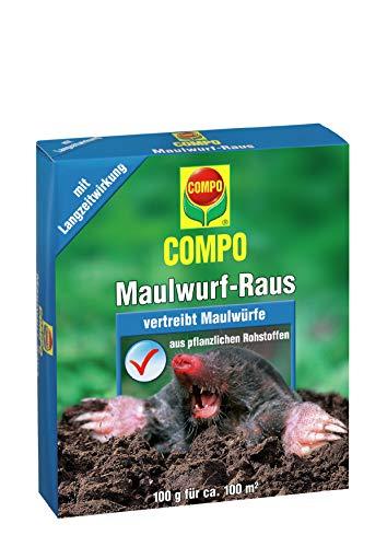COMPO Maulwurf-Raus, Natürliches Vertreibe- und Fernhaltemittel gegen Maulwürfe mit Langzeitwirkung, 2x50 g