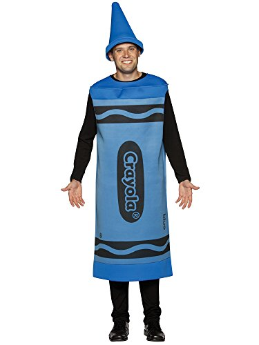 Blue Crayola Crayon Costume - Large/XL - Chest Size 42-48
