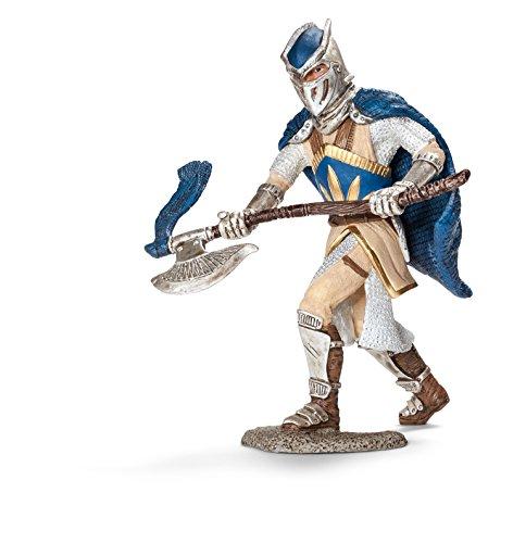 Schleich - Caballero del Grifo con Hacha, Figura Pintada a Mano (70112)