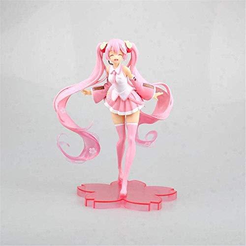 wxxsjfj Figuras de acción Miku Pink Miku Sakura Figura de acción Miku Anime Figura Kawaii Figura PVC Modelo Juguete para niños Chica Regalo Figma Doll Figura Aprox. 20 centímetros