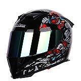 Visor Solar Doble Cara Completa/Abierta Helmetadult Moto Casco De...