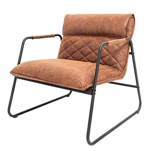 Retro Lounge Sessel Mustang Lounger Antik Hellbraun Esszimmersessel Stuhl Besucherstuhl