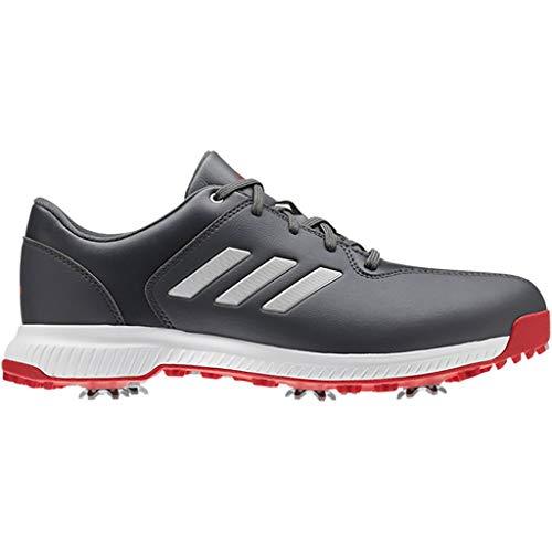 adidas Golf 2019 CP Traxion Wasserdichte Leder Golfschuhe mit Spikes Grey Six/Silver/Scarlet 13UK
