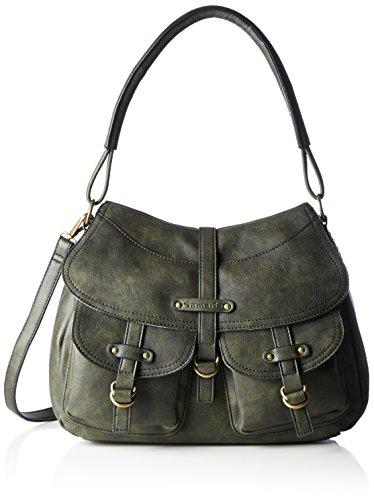 Tamaris Damen GWYNETH Satchel Bag Henkeltaschen, Grün (olive 706), 34x27x12 cm