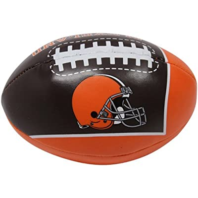 NFL Cleveland Browns Kids Quick Toss Softee Football, Orange, Small