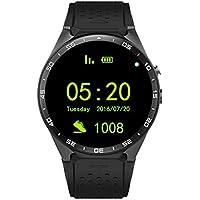 Peanutaso King-Wear KW88 SmartWatch Podómetro Dispositivo de Ritmo cardíaco Anti-pérdida para Android 5.1 Sistema operativo Soporte WiFi Negro Deslucido/Oro Negro