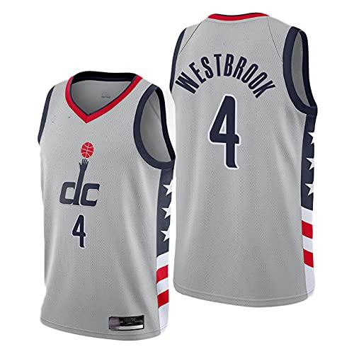 TYUIY Hombre Westbrook Jersey, Wizards 4# Uniforme de Baloncesto, Entrenamiento Chaleco de Baloncesto para fanáticos, Ropa Deportiva de Baloncesto de Secado rápido, el me M