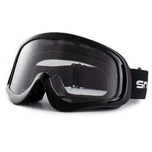 Snowledge Motorradbrille Herren Motorrad Windichte Brille MX Sport Sonnenbrille UV400 Schutzbrille Winddicht Staubdicht Kratzfest Crossbrille