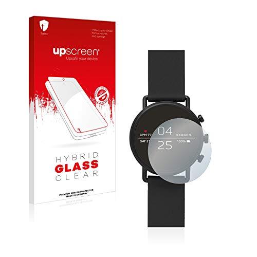 upscreen Hybrid Glass Panzerglas Schutzfolie kompatibel mit Skagen Smartwatch Falster 2 9H Panzerglas-Folie