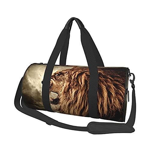 Angry Lion - Bolsa de viaje para equipaje de mano, ligera, plegable, para hombre y mujer