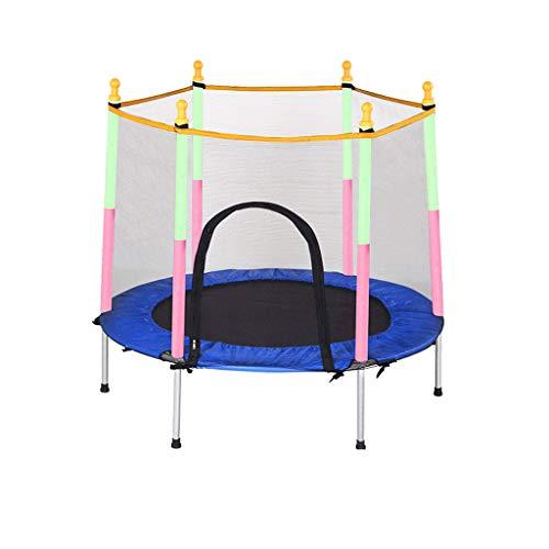 ZHAOJBC Kindertrampoline, veilig en afneembaar stijl, met geleidingsplank, kindersport en fitness, houdt 150 kg stand