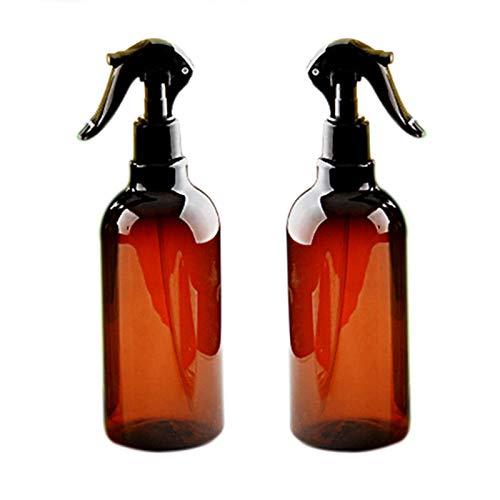 WZCXYX 2 Piezas 500 Ml Botellas De Aerosol Pulverizador De Gatillo Aceites Esenciales Aromaterapia Perfume Recargable Atomizador Botellas De Perfume con Aerosol Ámbar