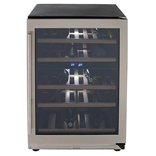 Avanti WCF43S3SD 43 Bottle Dual Zone Wine Chiller With Seamless Door, Steel