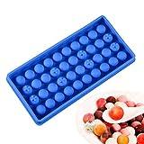 Mini bola del cubo de hielo del silicón del fabricante pelota cuadrada whisky molde Cocktail Bar Vino Accesorios BPA,Color aleatorio