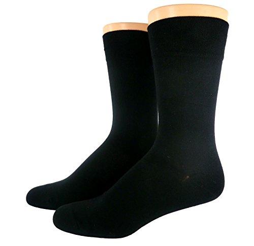 Shimasocks Herren Business Socken ohne Gummi, Farben alle:schwarz, Größe:43/46