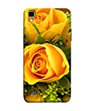 Printfidaa Colourful Yellow Roses with Leaves Background Printed Designer Hard Back Case for LG X Power, K220DS, K220, LS755, US610, K450 Back Cover